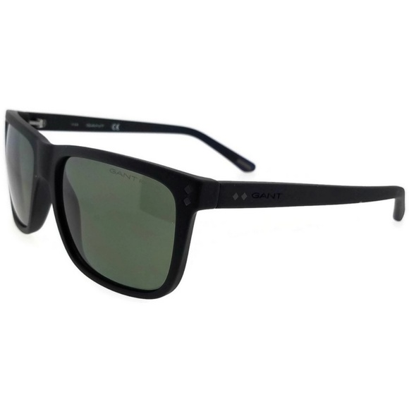 f58b6af42fe GA7081-02R-58 Square Men s Black Frame Sunglasses. NWT. Gant